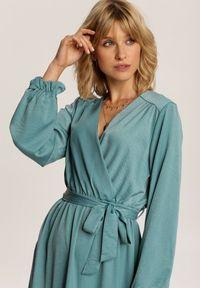 Niebieska długa sukienka Renee