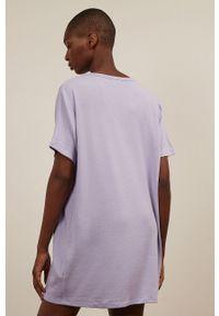 Undiz - Koszula nocna CARRYTUNIZ. Kolor: fioletowy. Materiał: dzianina. Długość: krótkie