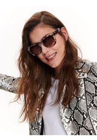 Brązowe okulary przeciwsłoneczne TOP SECRET