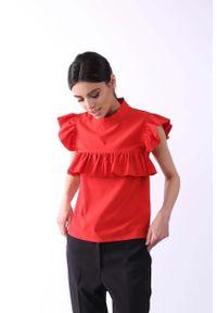 Czerwona bluzka Nommo ze stójką