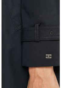 Niebieski płaszcz TOMMY HILFIGER na co dzień, casualowy