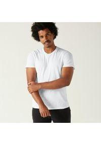 NYAMBA - Koszulka krótki rękaw fitness Sportee. Kolor: biały. Materiał: elastan, bawełna, materiał. Długość rękawa: krótki rękaw. Długość: krótkie. Sport: fitness