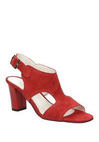 Czerwone sandały Casu na lato, eleganckie