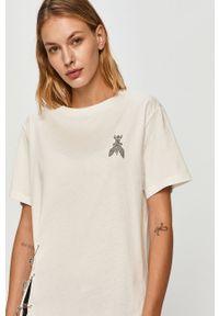 Biała bluzka Patrizia Pepe z okrągłym kołnierzem, na co dzień, casualowa