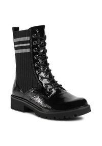 Czarne buty trekkingowe Remonte z cholewką