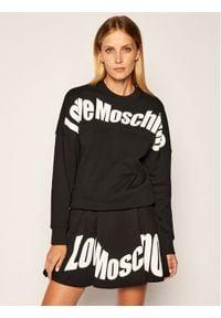 Love Moschino - LOVE MOSCHINO Bluza W641901M 4055 Czarny Regular Fit. Kolor: czarny