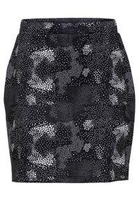 Czarna spódnica bonprix z nadrukiem
