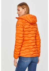 Pomarańczowa kurtka Peak Performance casualowa, na co dzień, z kapturem