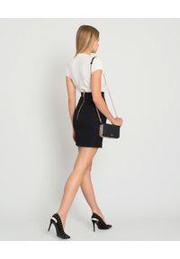 Balmain - BALMAIN - Czarna spódnica z guzikami. Okazja: na spotkanie biznesowe. Kolor: czarny. Materiał: materiał. Wzór: aplikacja. Styl: klasyczny, biznesowy