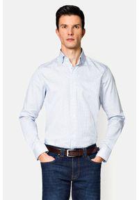 Lancerto - Koszula z Nadrukiem Brisa. Materiał: bawełna, tkanina, jeans. Wzór: nadruk