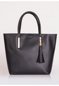 Czarna torebka Monnari z frędzlami