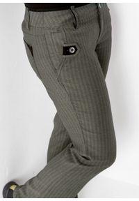 Zielone spodnie bonprix na spotkanie biznesowe, w prążki, biznesowe