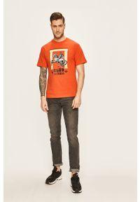 T-shirt adidas Originals z okrągłym kołnierzem, na co dzień, casualowy