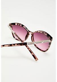 Różowe okulary przeciwsłoneczne MOODO z motywem zwierzęcym, prostokątne