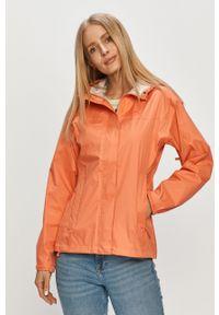 Pomarańczowa kurtka Helly Hansen z nadrukiem, casualowa