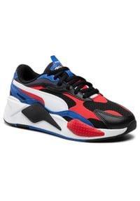 Puma - Sneakersy PUMA - Rs-X³ Bright L Jr 375680 01 P.Black/Hi.Ri.Red/Lapis Blue. Okazja: na uczelnię, na spacer, na co dzień. Kolor: czarny. Materiał: skóra, skóra ekologiczna, materiał. Szerokość cholewki: normalna. Styl: casual