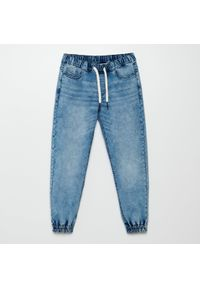 Cropp - Denimowe joggery - Niebieski. Kolor: niebieski