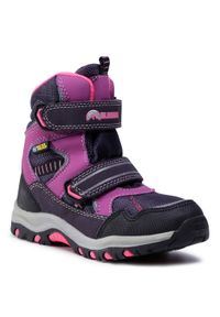 Elbrus - Trekkingi ELBRUS - Tamiko Mid Wp Jr Dark Violet/Light Violet/Fuchsia. Okazja: na spacer. Kolor: fioletowy. Materiał: skóra, skóra ekologiczna, materiał. Szerokość cholewki: normalna. Sezon: zima