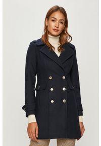 Niebieski płaszcz Morgan casualowy, bez kaptura, na co dzień