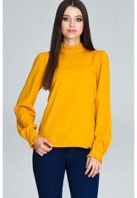 Żółta bluzka Figl ze stójką