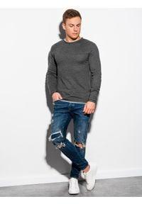 Szary sweter Ombre Clothing na co dzień, melanż, casualowy