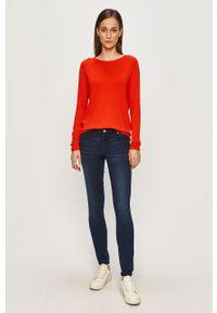 Pomarańczowy sweter Haily's raglanowy rękaw, na co dzień, casualowy