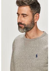 Szara bluza nierozpinana Polo Ralph Lauren z aplikacjami, na co dzień, casualowa
