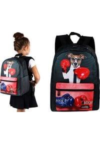 Cogio Kids Italy Plecak szkolny M-5061A czarny. Kolor: czarny