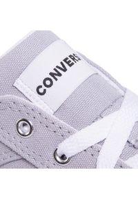 Szare półbuty Converse z cholewką, na co dzień, eleganckie