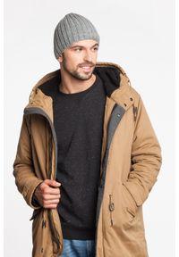 Zimowa czapka męska PaMaMi - Granatowa mulina. Kolor: niebieski. Materiał: akryl. Sezon: zima. Styl: elegancki #2