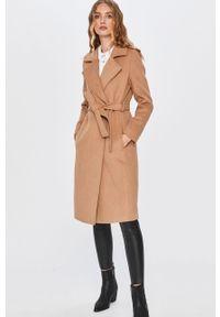 Beżowy płaszcz Answear Lab bez kaptura, na co dzień
