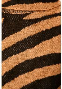 Złoty sweter ANSWEAR z golfem