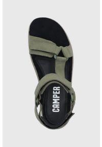 Oliwkowe sandały Camper gładkie