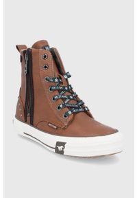 Mustang - Trampki. Nosek buta: okrągły. Kolor: brązowy. Materiał: guma