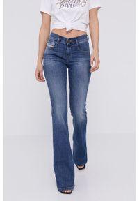 Niebieskie jeansy bootcut Diesel