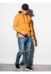 Żółta bluza Ombre Clothing z kapturem #4
