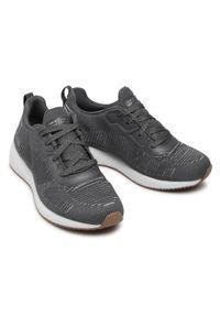 Szare buty do fitnessu skechers Skechers Sport, na płaskiej podeszwie