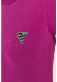 Fioletowa bluzka Guess casualowa, na co dzień