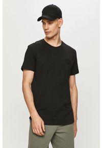 Czarny t-shirt Calvin Klein Jeans gładki, casualowy, na co dzień