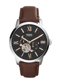 Fossil - Zegarek ME3061. Kolor: brązowy. Materiał: skóra, materiał