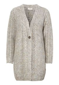 Beżowy sweter Freequent elegancki, melanż, długi