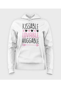 MegaKoszulki - Bluza damska z kapturem Kissable. Typ kołnierza: kaptur