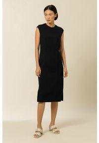 IVY & OAK - Sukienka Debbie. Okazja: na co dzień. Kolor: czarny. Materiał: tkanina. Typ sukienki: proste. Styl: casual