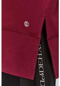 Deha - Bluza. Typ kołnierza: kaptur. Kolor: różowy. Materiał: włókno, dzianina, materiał, syntetyk. Długość rękawa: długi rękaw. Długość: długie