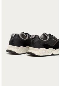 Czarne sneakersy GANT na sznurówki, z cholewką, z okrągłym noskiem