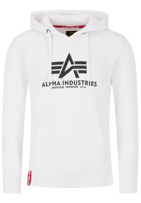 Alpha Industries Bluza Basic Hoody 178312 Biały Regular Fit. Kolor: biały