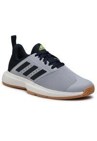 Szare halówki Adidas z cholewką, Adidas Cloudfoam