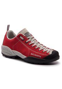 Czerwone buty trekkingowe Scarpa z cholewką, trekkingowe
