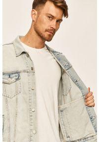 Niebieska kurtka Levi's® w kolorowe wzory, klasyczna, bez kaptura