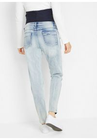 Niebieskie jeansy bonprix moda ciążowa, eleganckie